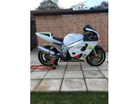 Suzuki gsxr 600 Srad track bike with v5 and number plate.
