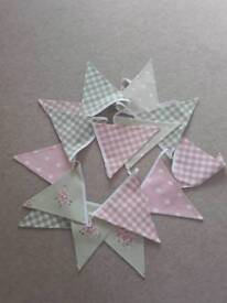 4m handmade beautiful double sided bunting