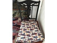 Fully hand reupholstered small legged child's bedroom chair