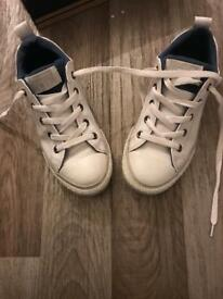 White Converse size 2