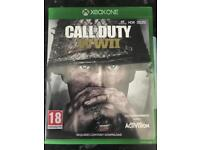 Xbox one call of duty WWII mint condition