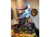 Girls pink metal Kiddo Trike