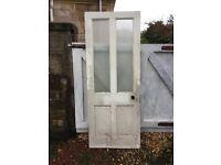 Glazed pine door (reclaimed)