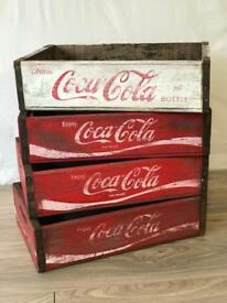 Vintage Coca Cola Crates / Storage Box / Planter - BRAND NEW