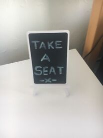 """Take A Seat"" Easel Stand"