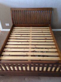 King size oak bed frame