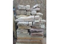 Reclaimed Natural Sandstone (approx 2m2), Perfect for Garden Projects