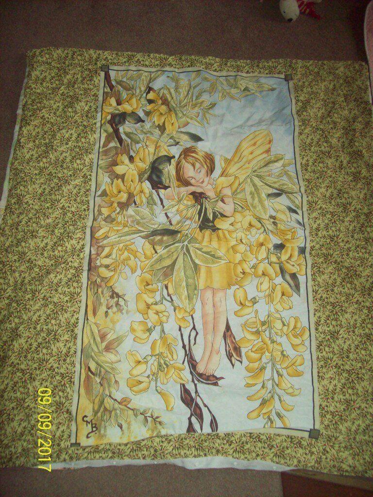 Flower fairy cot bed duvet cover