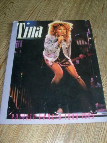 Tina Turner Concert Program 1985 Private Dancer Tour