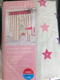 Brand new children's black out curtains.