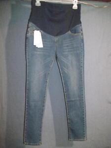 "Vimito Women`s Blue Maternity Jeans Medium W: 16"" X L: 33"""