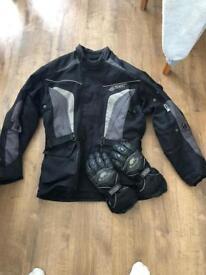 Hi I'm selling jacket gloves and helmet