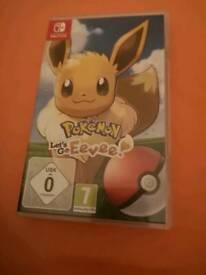 Pokémon let's go Eevee switch game
