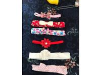 Bundle of baby headbands