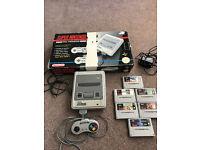 Super Nintendo SNES with Box & Games