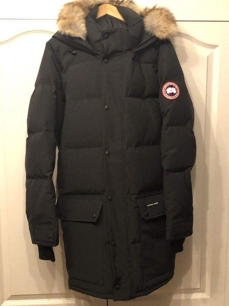 0a8fb551aca24 NEW Canada Goose Emory Parka Black Thick Puffa Padded Winter Coat Button  Jacket Fur - LARGE EXTRA XL