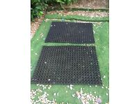Heavy duty rubber grass mats for under/around play sets/swings etc