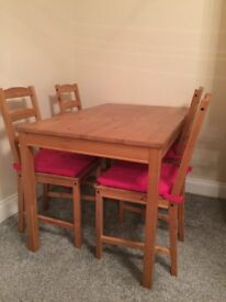 Ikea table and chairs £30 ONO
