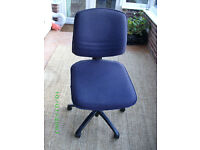 Office Chair - Blue Fabric