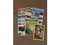 6 Magazines - Camera Photography & National Geographic Photo Issue