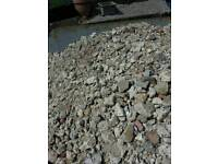 Recycled aggregate crushed stone concrete