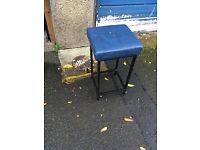 6 blue stools for sale