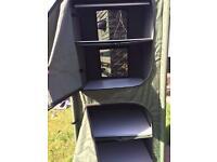 Camping shelves