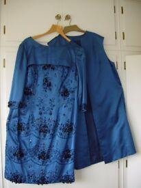 Harrods amazing Vintage dress & sleeveless long coat