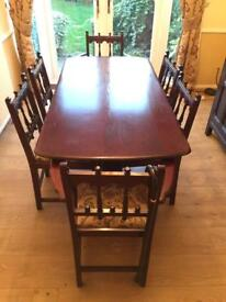 Dining Room Set inc Table, 6xChairs, 2 part Sideboard
