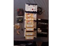 tattoo machine Iron jhons plus needles, tubes, grips, clip cord and rubbers.