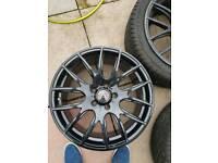 Wolfrace 18 inch alloy wheels