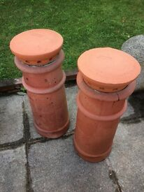 3 Terracotta Chimney pots
