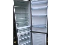 Hisense fridge freezer silver... free delivery