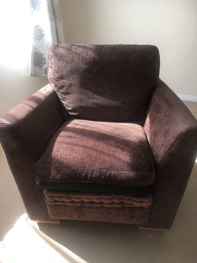 Brown fabric armchair | in Chandlers Ford, Hampshire | Gumtree