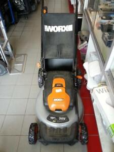 Worx 19 Inch Cordless Lawnmower. We buy and sell used tools! (#50944) JY721477