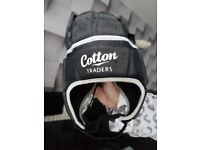 Good Condition Men's Black Silver Bionic Head Guard With Storage Bag. Cotton Traders Size Medium