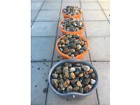 4 Buckets of Garden Stones