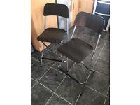 2 Black IKEA Breakfast bar stools