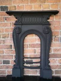 Rare Rococo victorian cast iron fireplace CHEAP DELIVERY uk