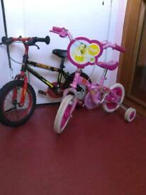 Barbie and Apollo Force Bikes 3-6yrs