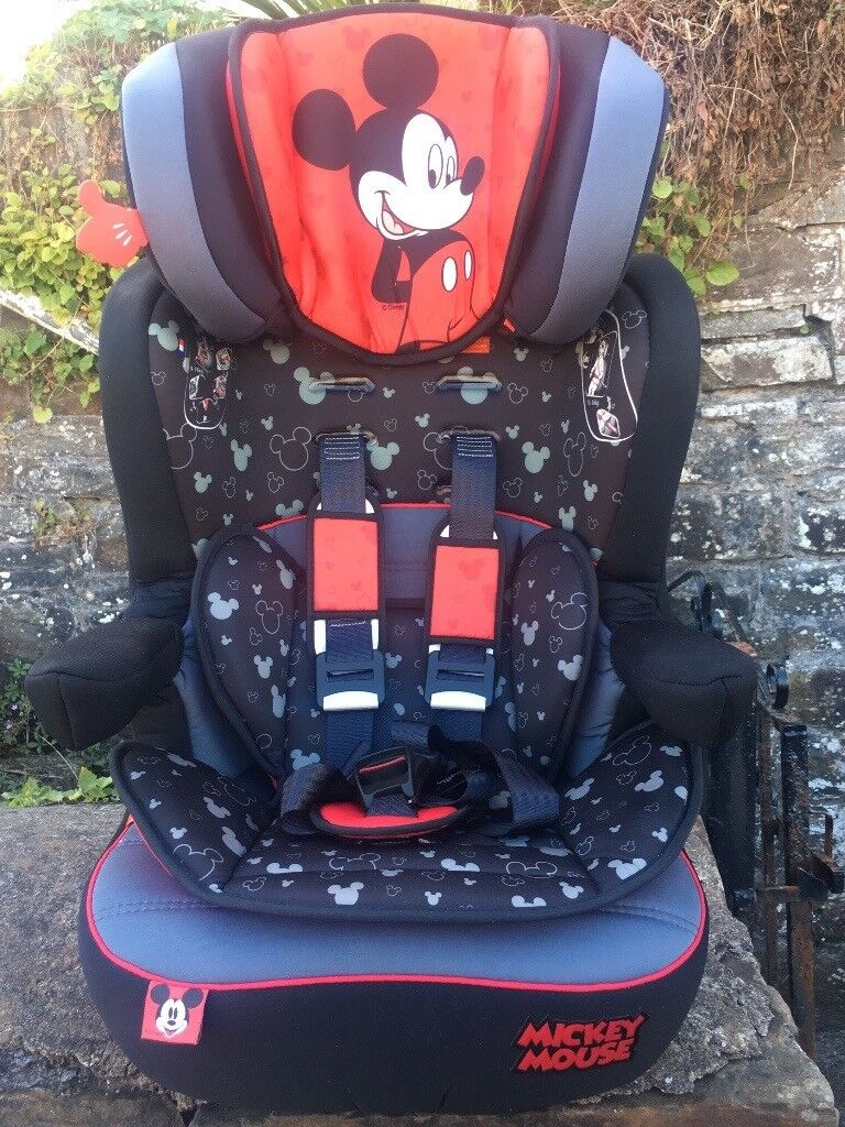 Disney Mickey Mouse Car Seat IMAX SP High Back Booster With Harness