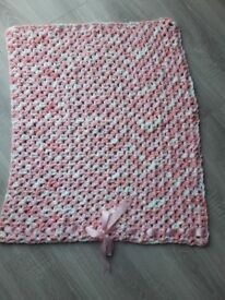 Handmade new baby blanket