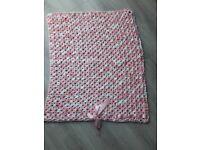 Handmade new baby blanket