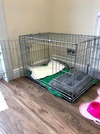 Double door dog crate £25