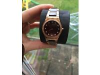 Bering rose gold plated quartz watch used