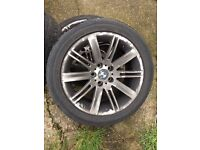 """BMW 18"""" 645ci alloys and tyres"""