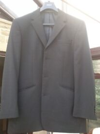 NEXT black 2 piece wool blend suit. 40R Jacket & 34in R Trouser (UK postage)