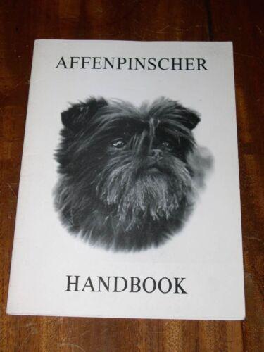"""RARE """"THE AFFENPINSCHER HANDBOOK""""  DOG BOOK BY BOORER 1ST 1982 VG CONDITION"""