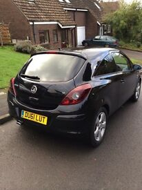Vauxhall Corsa Sxi 1.2 3 door 2 owners with service history in good condition, MOT due 09/2017