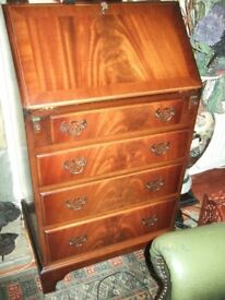 Vintage Mahogany Small Bureau